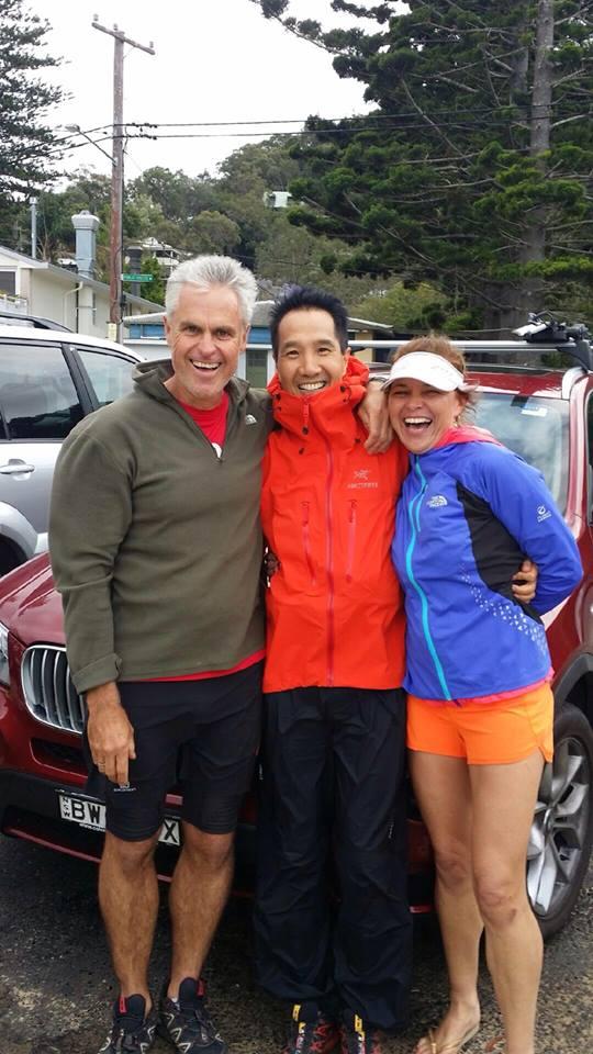 Martyn, Allan and Jen at Patonga on Sunday