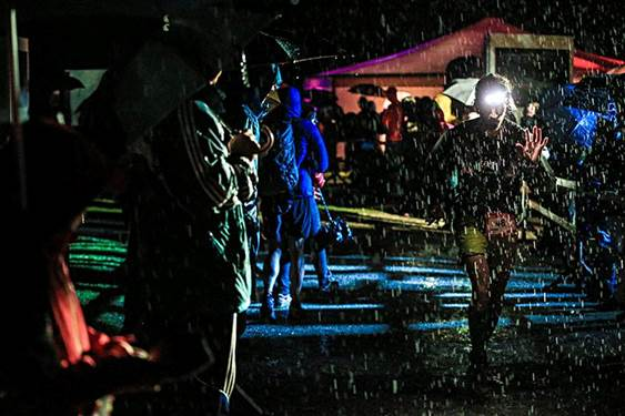 Photos from UTMB FB page, credit Franck Oddoux – as you can see it was a touch wet on Fri night