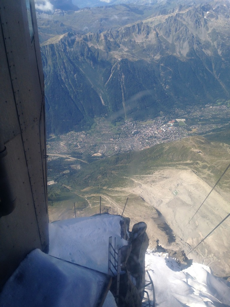 The view back down to Chamonix