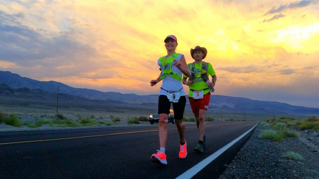 Nikki Wynd, David Eadie at Badwater